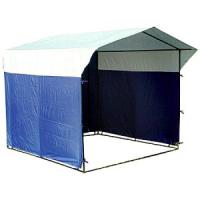 Палатка торговая, разборная «Домик» 2.0 х 2.0 К (квадратная труба 20x20мм), бело-синяя