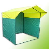 Палатка торговая, разборная «Домик» 2.0 х 2.0 К (квадратная труба 20x20мм), желто-зеленая
