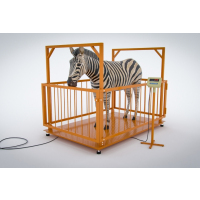Весы МВСК С-Н-2 (2,0х1,5) с ограждением для взвешивания животных 1,5 м (кабель4м, кабель4жил.)