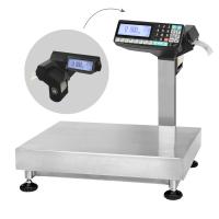 Настольные весы МАССА TB-5040N-200.2-R2P3n с печатью этикеток, платформа из нержавейки